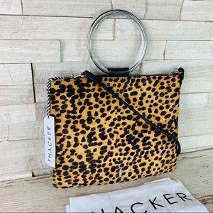 Thacker NWT Le Pouch Cheetah/Black/Silver $168